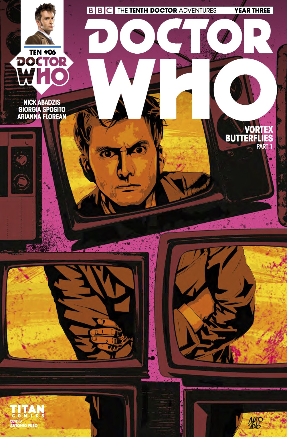 D​octor Who: The Tenth Doctor Year 3 #6​ Cover A (Credit: Titan / Antonio Fuso)