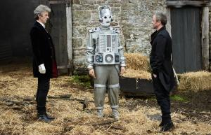 The Doctor Falls : The Doctor (Peter Capaldi), Mondasian Cyberman, The Master (John Simm) (Credit: BBC/BBC Worldwide (Simon Ridgway))