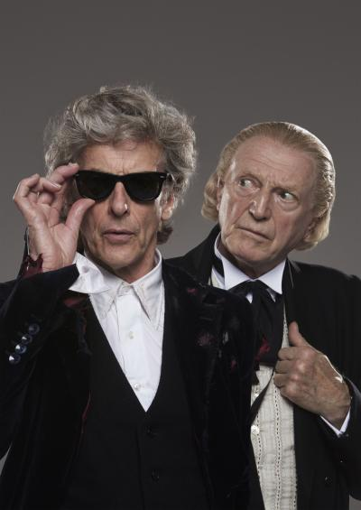 he Doctor (Peter Capaldi), The First Doctor (David Bradley) (Credit: BBC/BBC Worldwide (Ray Burmiston))