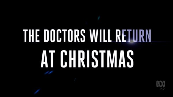 The Doctors Will Return at Christmas (Austalian caption) (Credit: BBC/ABC)