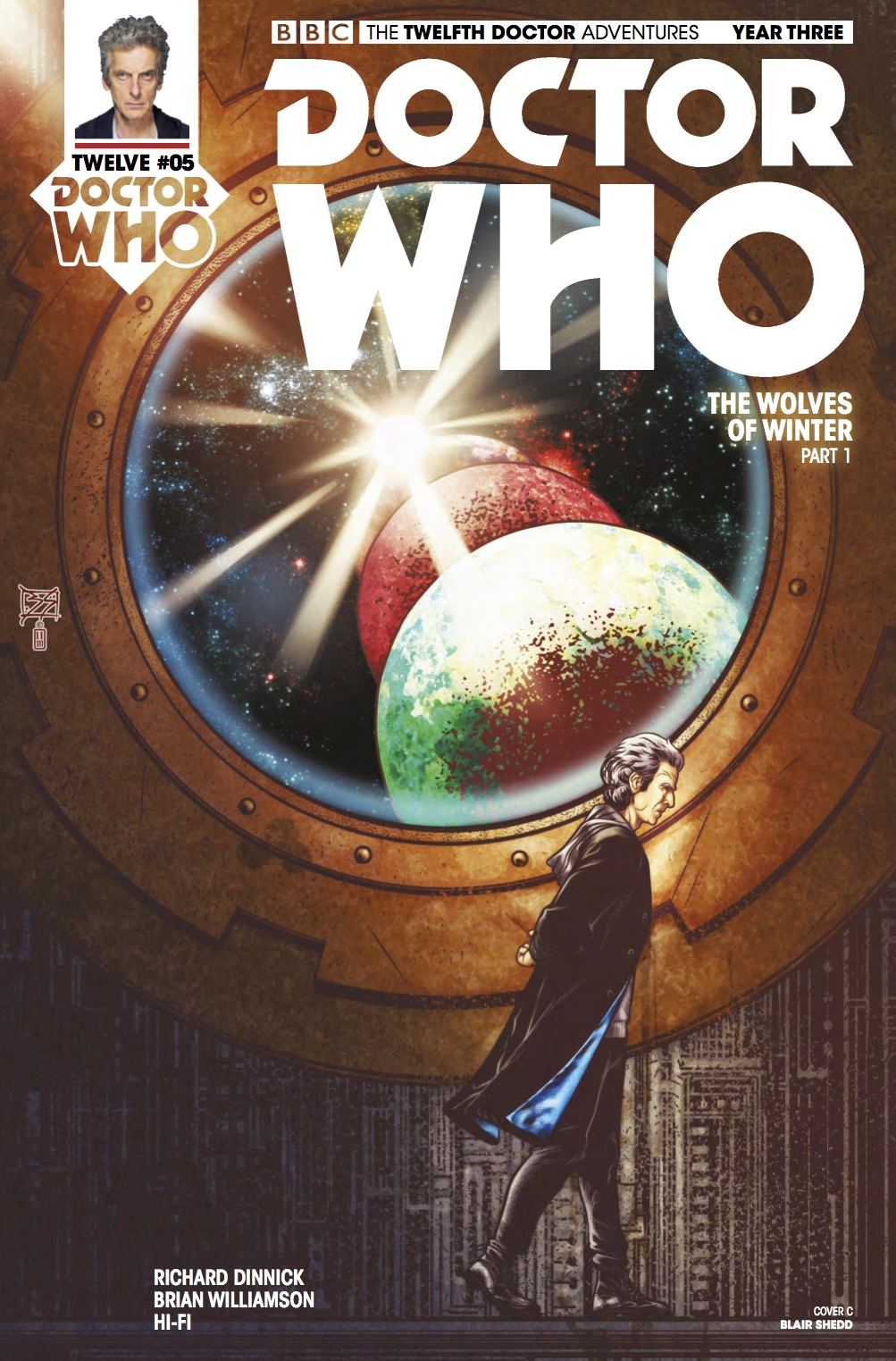 Doctor Who 12th Year Three #5 Cover C (Credit: Titan / Blair ​Shedd)