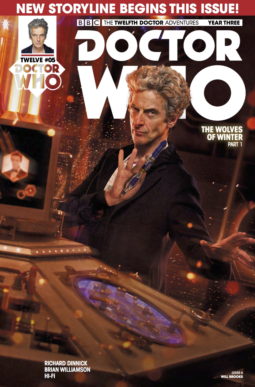 Doctor Who 12th Year Three #5 Cover B (Credit: Titan / Will​ Brooks)