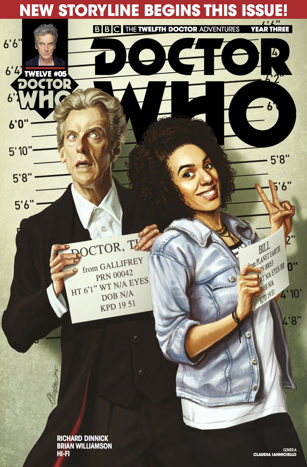 Doctor Who 12th Year Three #5  Cover A (Credit: Titan / ​Claudia ​Iannicello)
