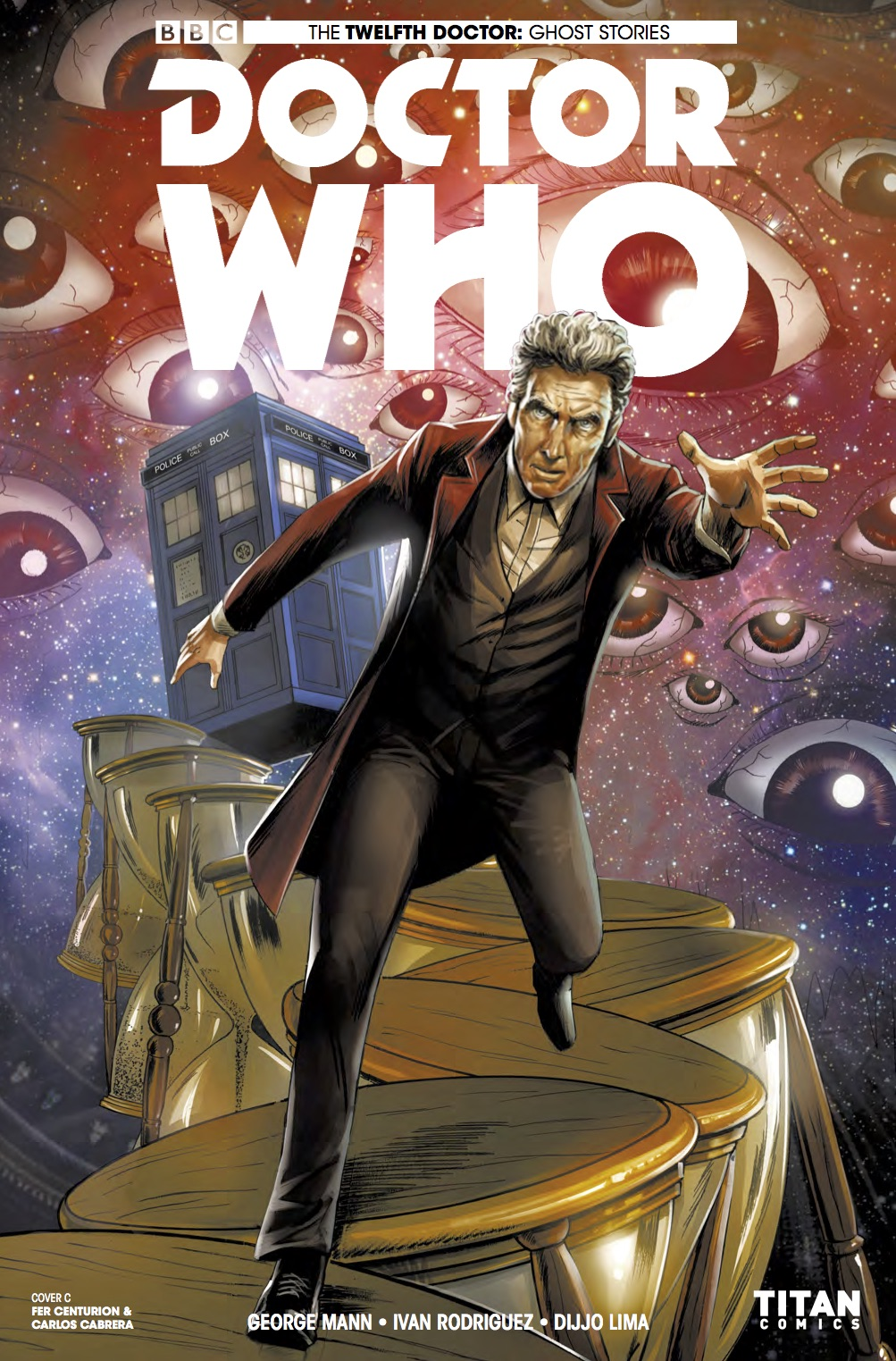 Doctor Who Ghost Stories #4 Cover C (Credit: Titan / Fer Centurion & Carlos Cabrera)