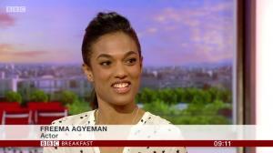 BBC Breakfast: 11th July 2017 (featuring Freema Agyeman)