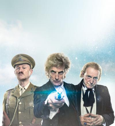 Twice Upon a Time: Mark Gatiss, Peter Capaldi, David Bradley (Credit: BBC)