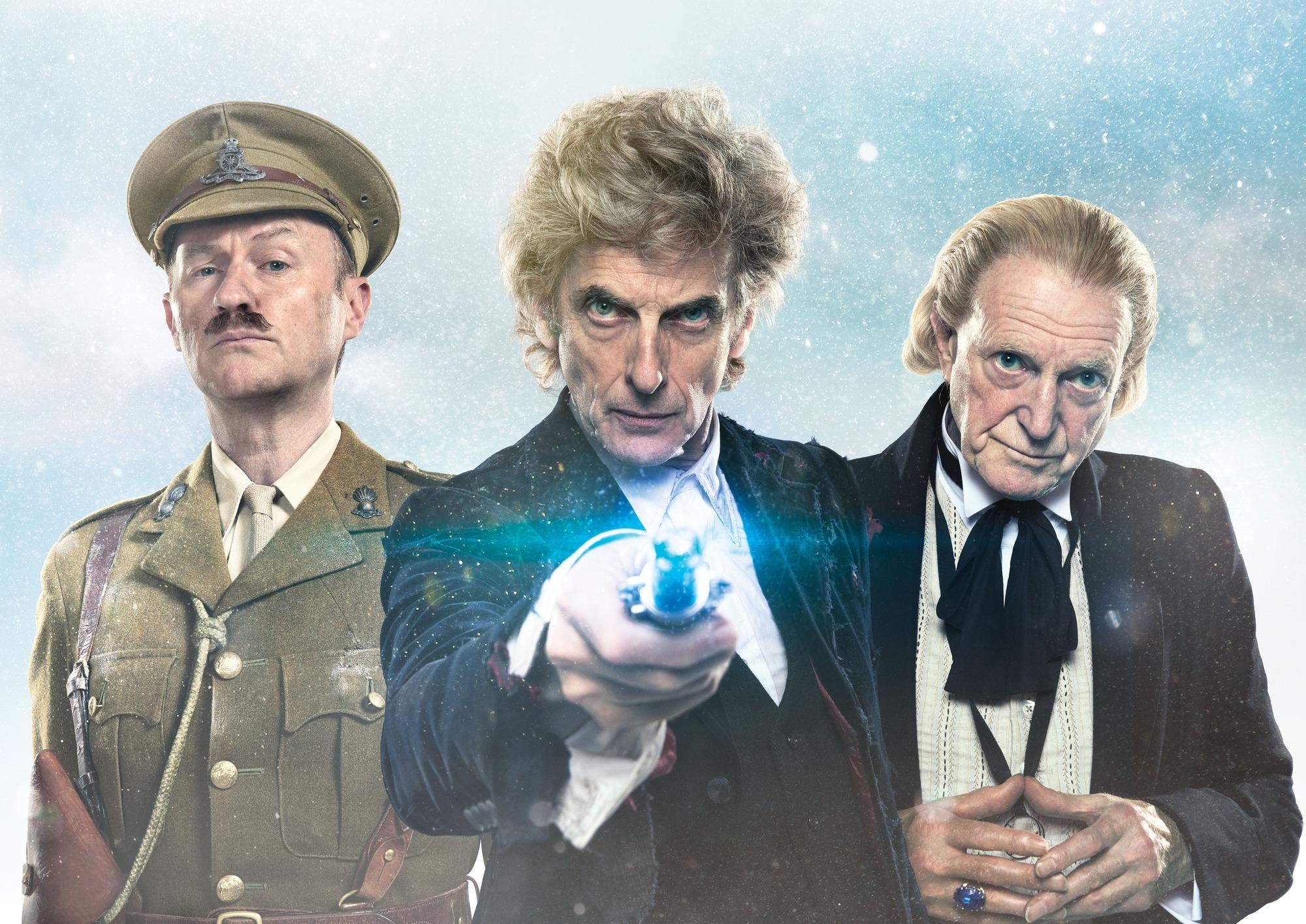Twice Upon a Time: Mark Gatiss, Peter Capaldi, David Bradley (Credit: BBC)