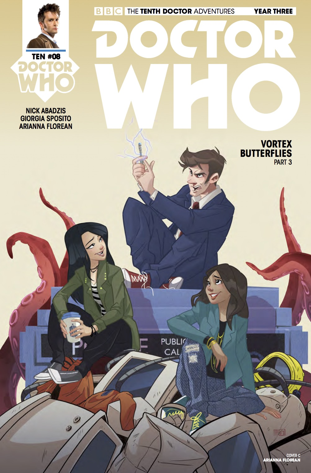 Doctor Who: Tenth Doctor Year Three #8 Cover C (Credit: Titan / Arianna Florean)