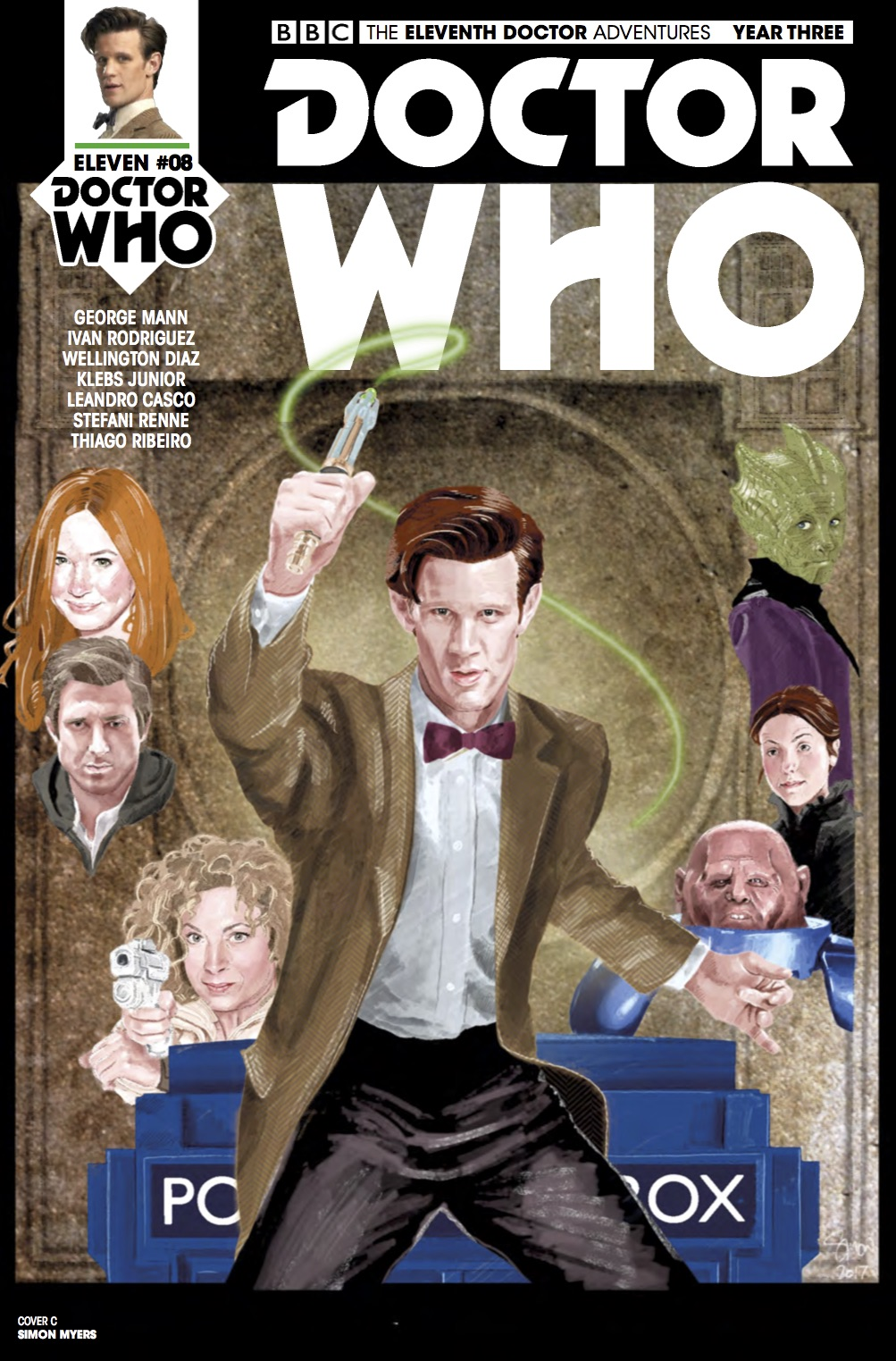Doctor Who: Eleventh Doctor Year Three #8 Cover C (Credit: Titan / Simon Myers )