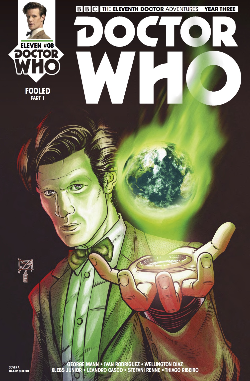 Doctor Who: Eleventh Doctor Year Three #8 Cover A (Credit: Titan /  Blair Shedd )