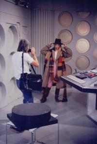 Behind te scenes on Destiny of the Daleks (Credit: Simon Meade/Steve Cambden)