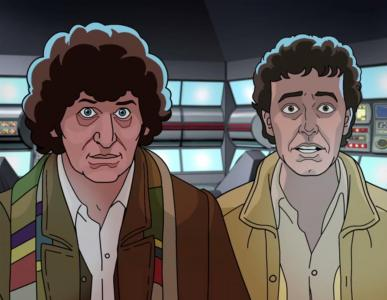 Shada - Tom Baker and Daniel Hill (Credit: BBC Worldwide)