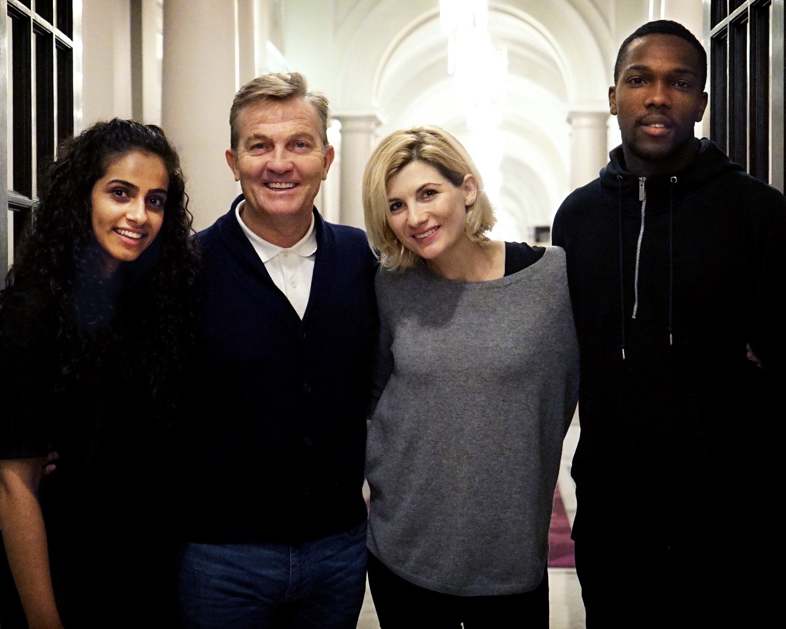 Meet the new TARDIS crew - Mandip Gill, Bradley Walsh, Jodie Whittaker, Tosin Cole (Credit: BBC)