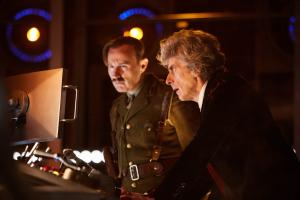 Twice Upon a Time: The Captain (Mark Gatiss), The Doctor (Peter Capaldi) (Credit: BBC/BBC Worldwide (Simon Ridgway))
