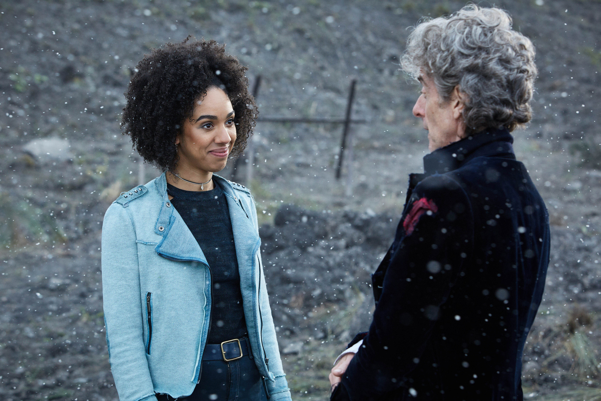 Twice Upon a Time: Bill (Pearl Mackie), The Doctor (Peter Capaldi) (Credit: BBC/BBC Worldwide (Simon Ridgway))