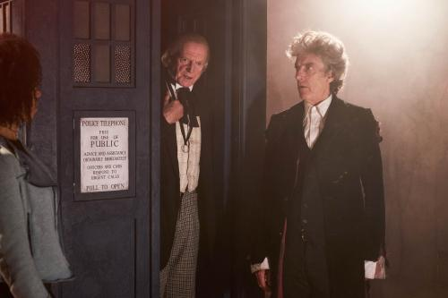 Twice Upon a Time: Bill (Pearl Mackie), The First Doctor (David Bradley), The Doctor (Peter Capaldi) (Credit: BBC/BBC Worldwide (Simon Ridgway))