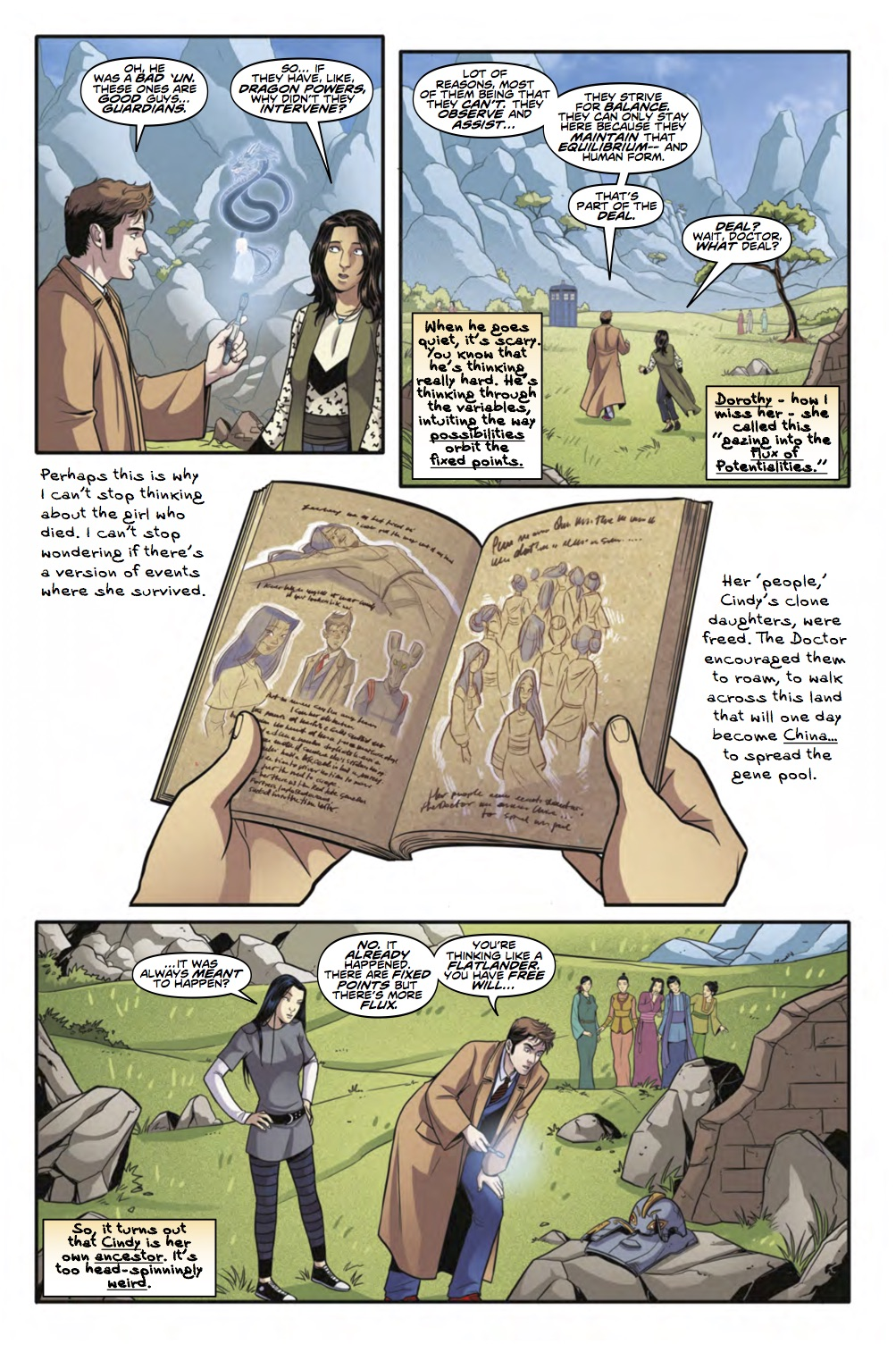 The Tenth Doctor: Facing Fate Volume 2: Vortex Butterflies - Page 3 (Credit: Titan )