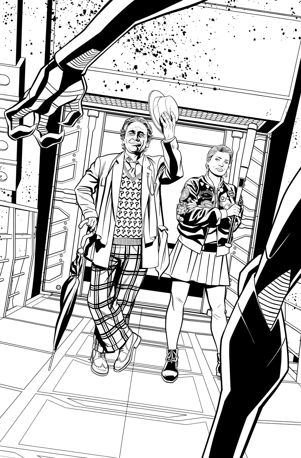 Doctor Who: The Seventh Doctor #1DOCTOR_WHO_7D_BLACK_AND_WHITE_PROMO_ART.JPG (Credit: Titan )