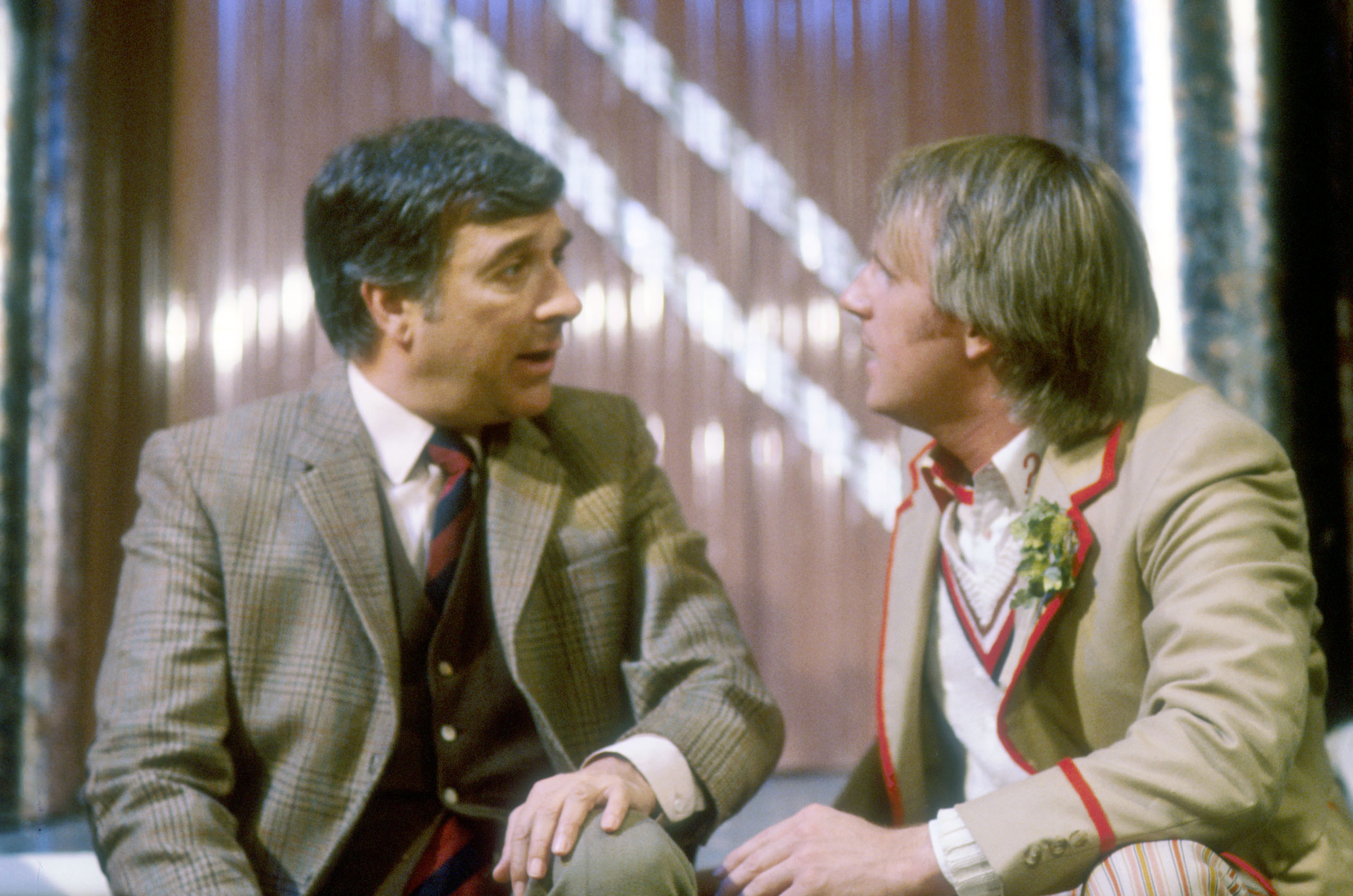 Nicholas Courtney, Peter Davison: (Credit:BBC)