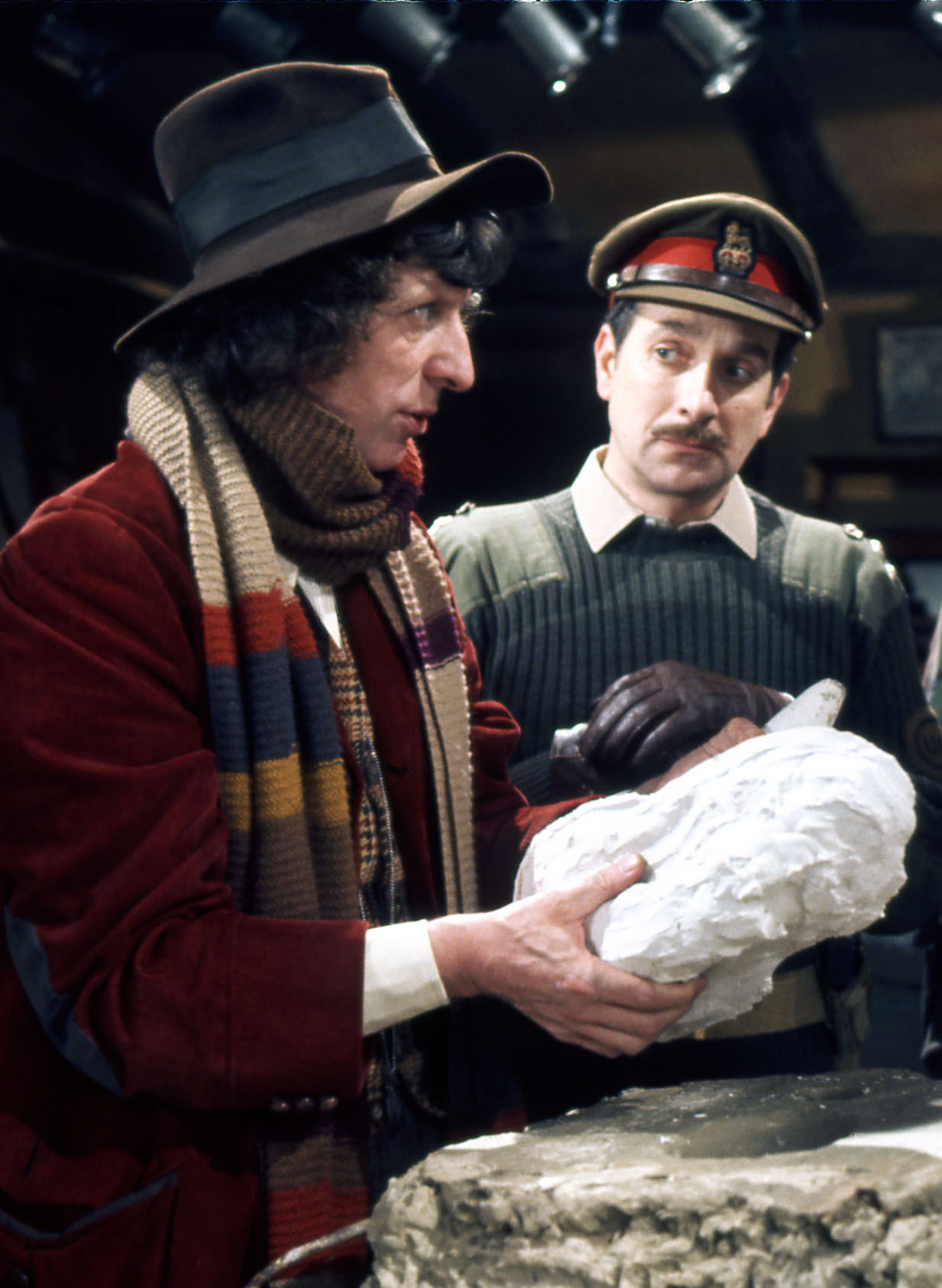 Nicholas Courtney, Tom Baker: (Credit:BBC)