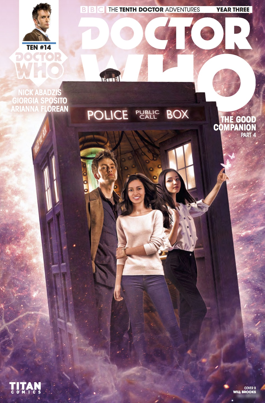 Doctor Who: The Tenth Doctor Year Three #14 - Cover B (Credit: Titan )