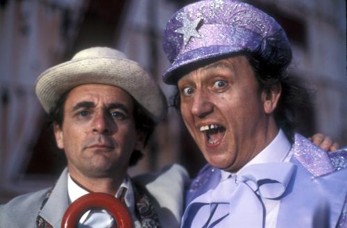 Ken Dodd / Sylvester McCoy (Credit: BBC )