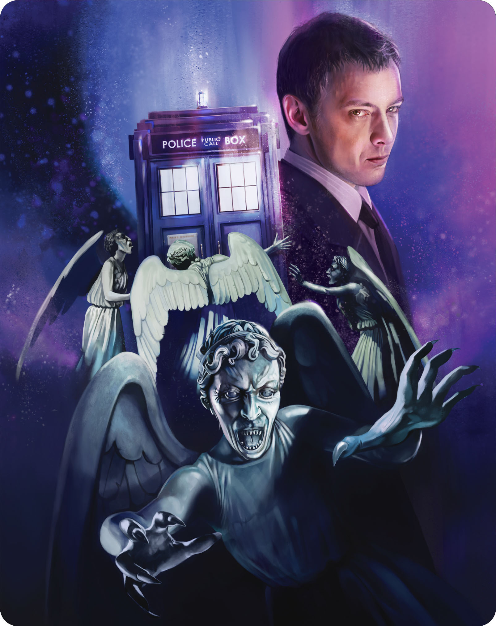 Doctor Who - Series 3 Steelbook - Back Cover (blu-ray) (Credit: BBC Worldwide)