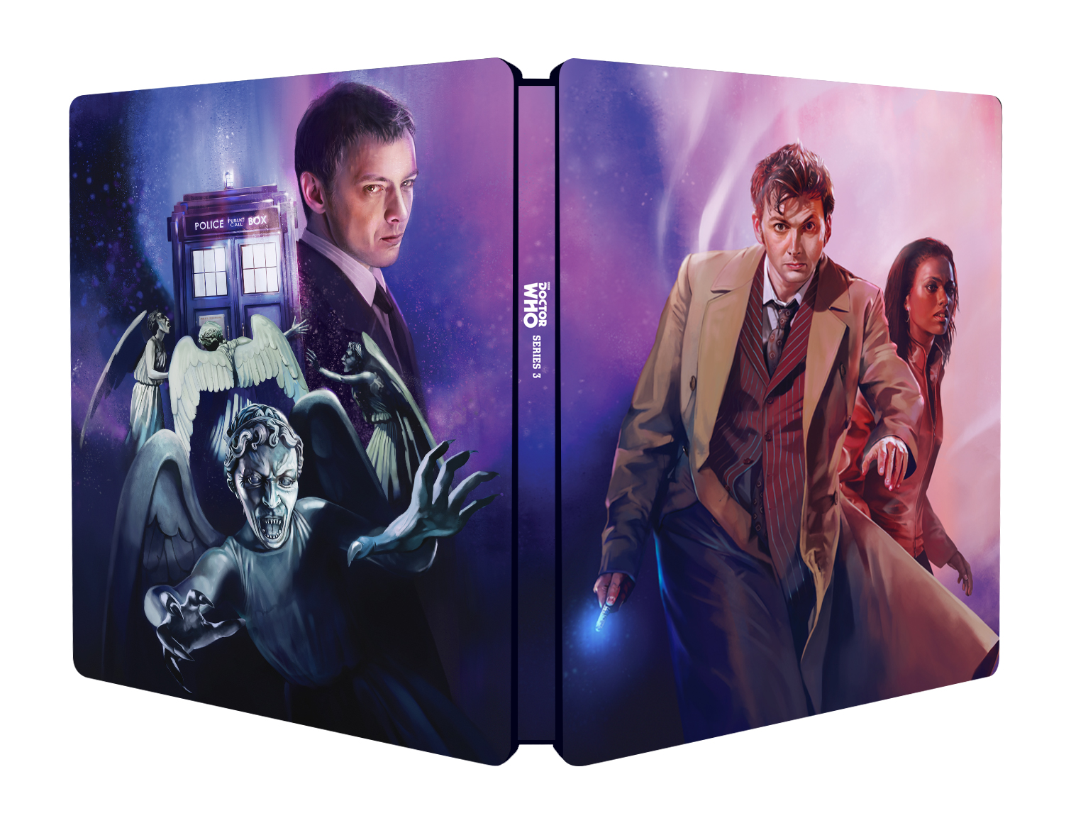 Doctor Who - Series 3 Steelbook - Cover (blu-ray) (Credit: BBC Worldwide)