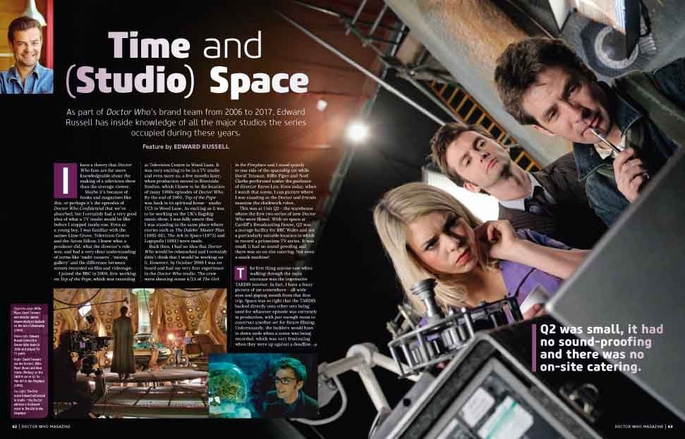 Doctor Who - In the Studio (Credit: Panini)