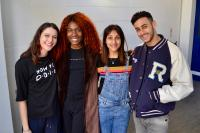 Vivian Oparah (Tanya Adeola), Fady Elsayed (Ram Singh), Sophie Hopkins (April MacLean) (Credit: Big Finish)