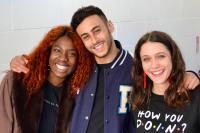 Sophie Hopkins (April MacLean), Vivian Oparah (Tanya Adeola), Taj Atwal (Reagan Harper), Fady Elsayed (Ram Singh) (Credit: Big Finish)