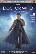 The Road to the Thirteenth Doctor: The Tenth Doctor - Cover B (Credit: Titan )