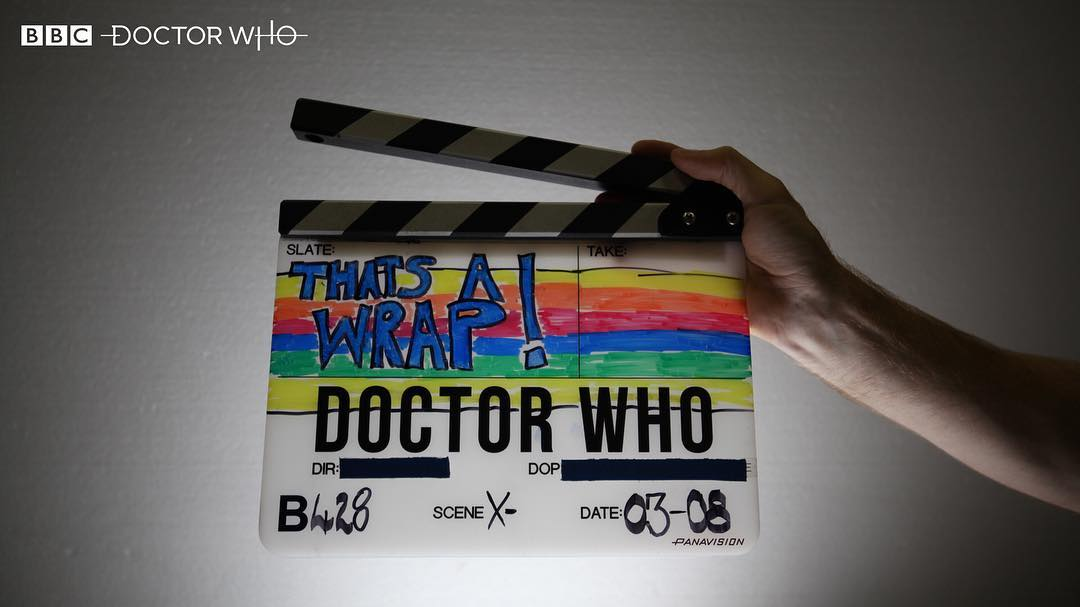 ... and that's a Wrap! Principal photography finishes on Series 11 of Doctor Who (Credit: BBC)