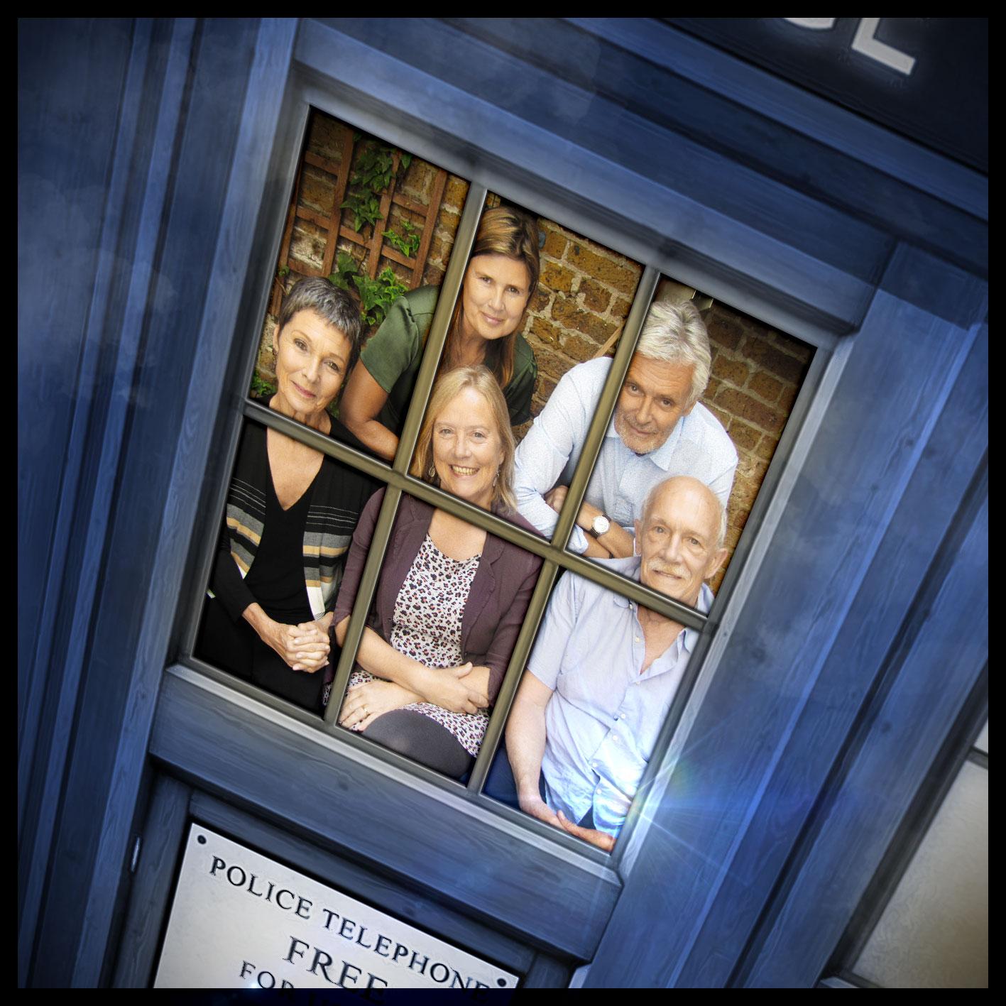Sophie Aldred, Simon Williams, Pamela Salem, Karen Gledhill, Hugh Ross (Credit: Big Finish)