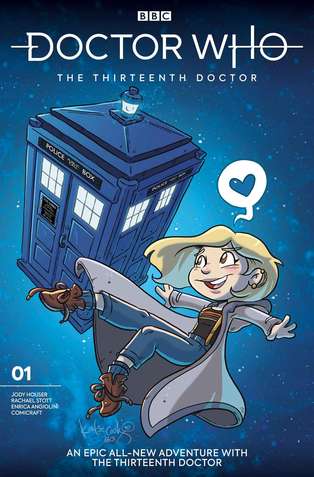Thirteenth Doctor #1 - Cover I _ Katie Cook (Credit: Titan )