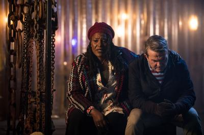 The Woman Who Fell to Earth: Grace (Sharon D Clarke), Graham (Bradley Walsh) (Credit: BBC/BBC Worldwide (Sophie Mutevelian ))