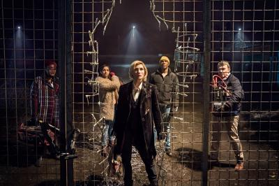The Woman Who Fell to Earth: Grace (Sharon D Clarke), Yaz (Mandip Gill), The Doctor (Jodie Whittaker), Ryan (Tosin Cole), Graham (Bradley Walsh) (Credit: BBC/BBC Worldwide (Ben Blackall))