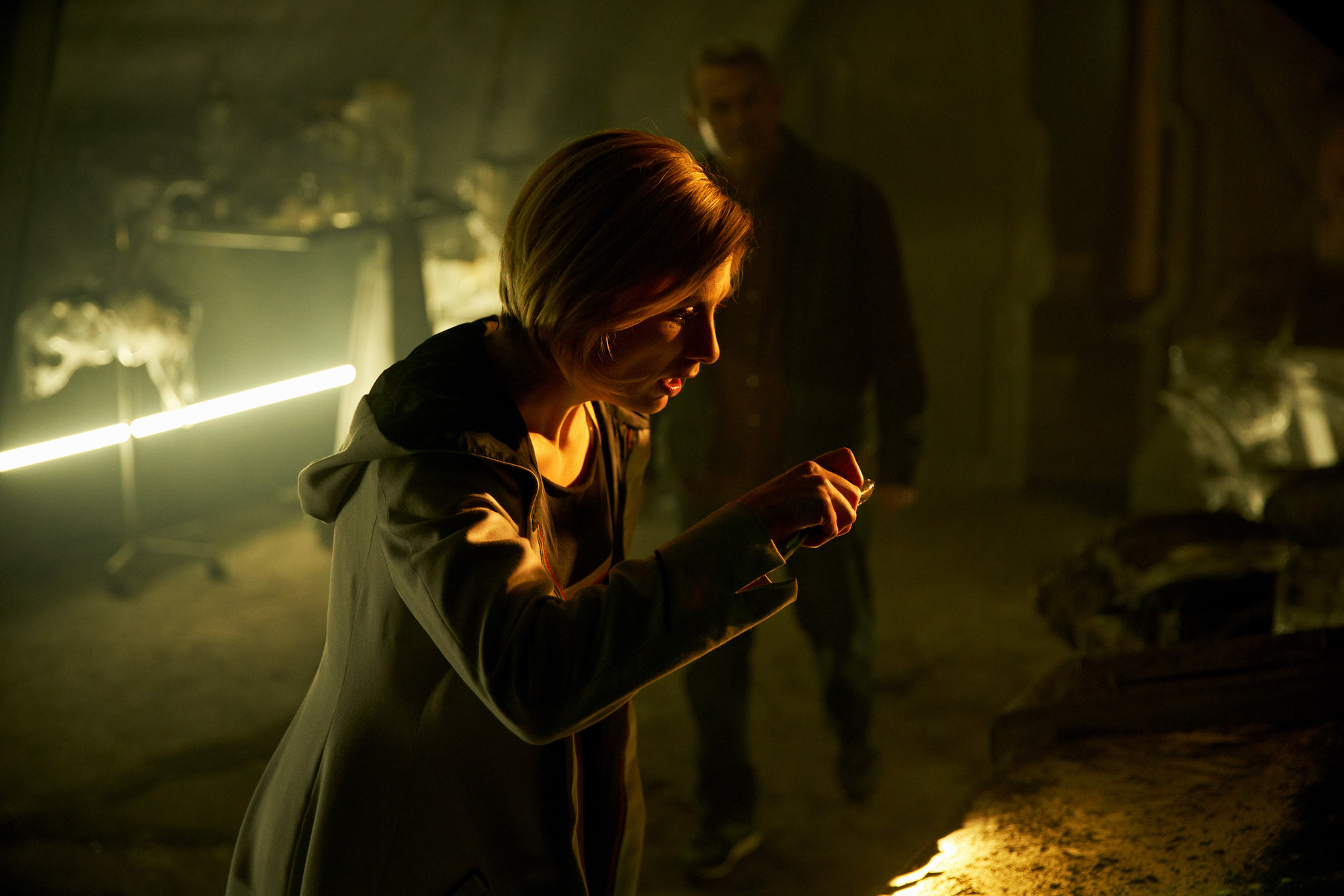 The Ghost Monument: The Doctor (Jodie Whittaker), Graham (Bradley Walsh) (Credit: BBC Studios (Simon Ridgway))