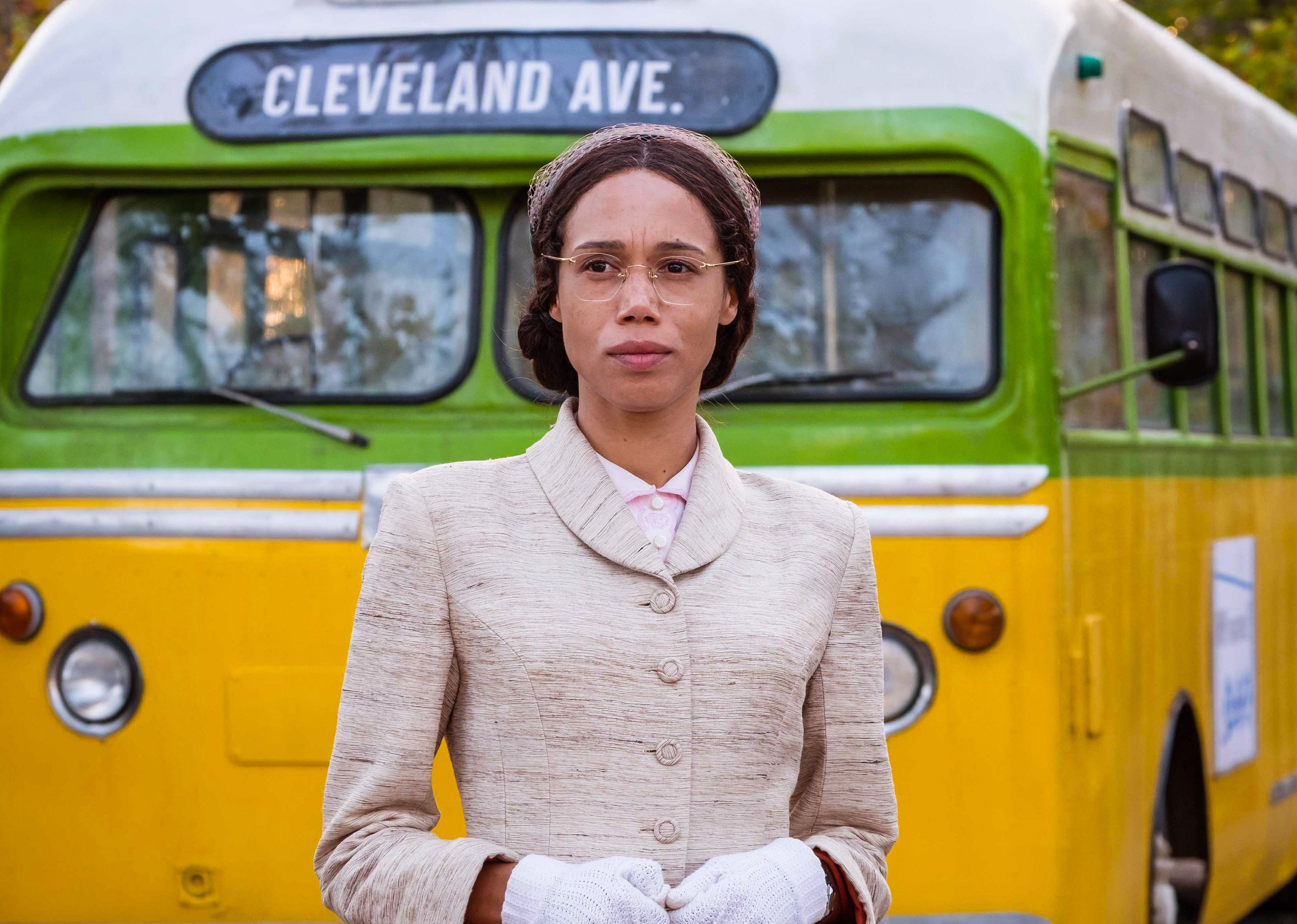 Vinette Robinson playing Rosa Parks (Credit: BBC Studios)