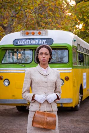 Rosa: Rosa Parks (Vinette Robinson) (Credit: BBC Studios (Coco Van Oppens))