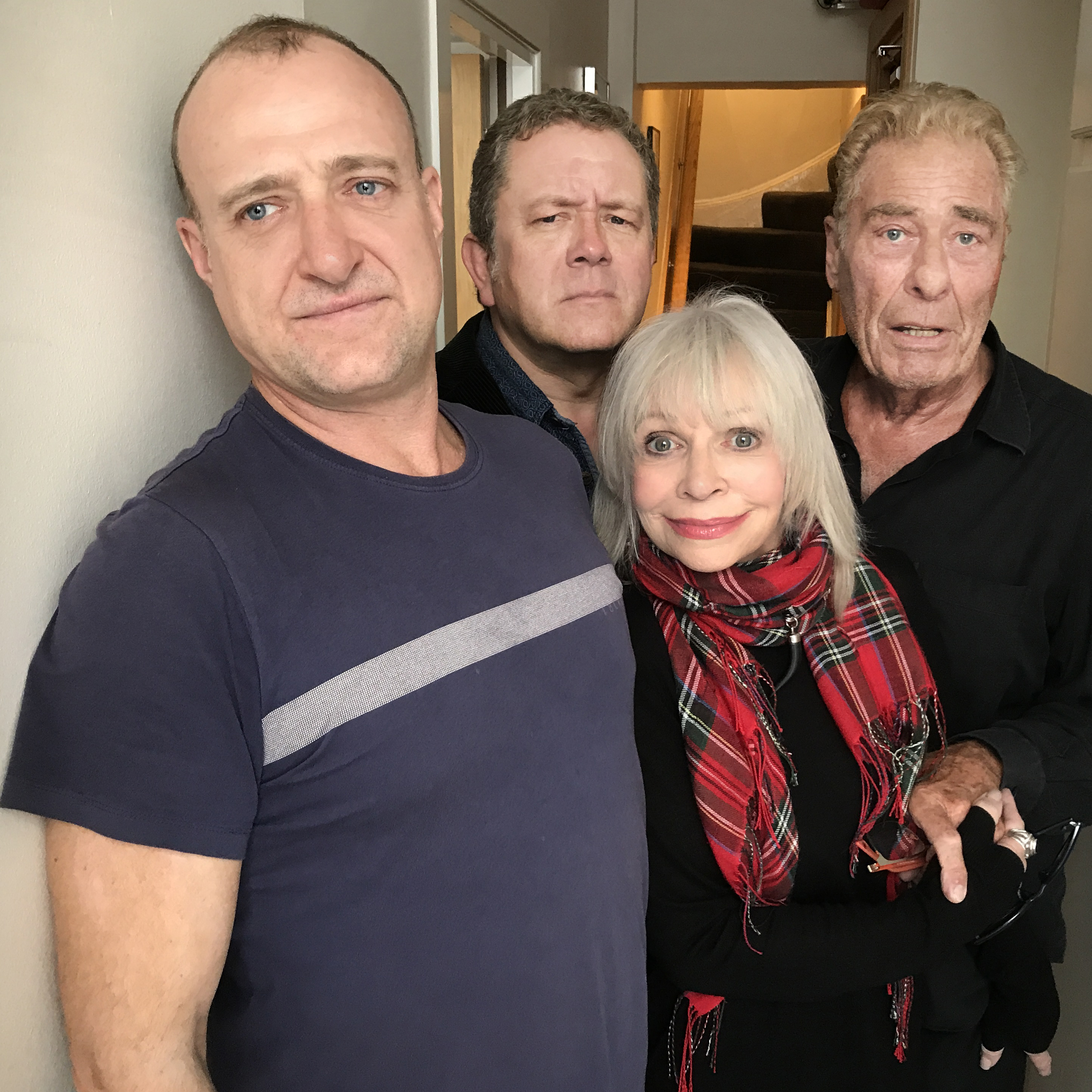 Tim Treloar, Jon Culshaw,  Katy Manning, John Levene (Credit: Big Finish)