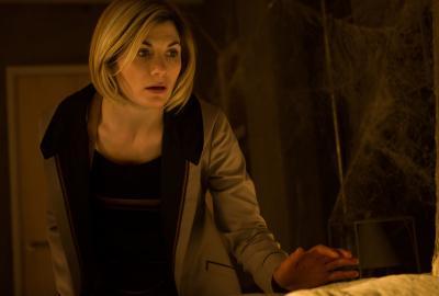 Arachnids In The UK: The Doctor (Jodie Whittaker) (Credit: BBC Studios (Ben Blackall))