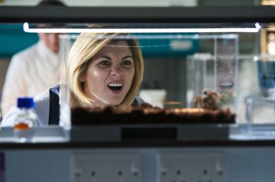 Arachnids In The UK: The Doctor (Jodie Whittaker) (Credit: BBC Studios (Simon Ridgeway))