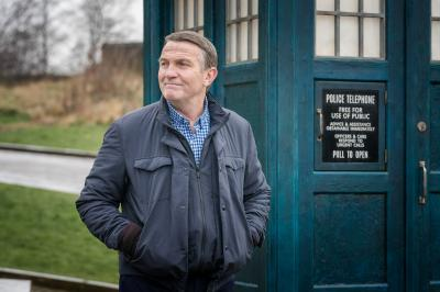 Arachnids In The UK: The Tardis, Graham (Bradley Walsh) (Credit: BBC Studios (Ben Blackall))