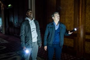 Arachnids In The UK: Ryan (Tosin Cole), Graham (Bradley Walsh) (Credit: BBC Studios (Ben Blackall))