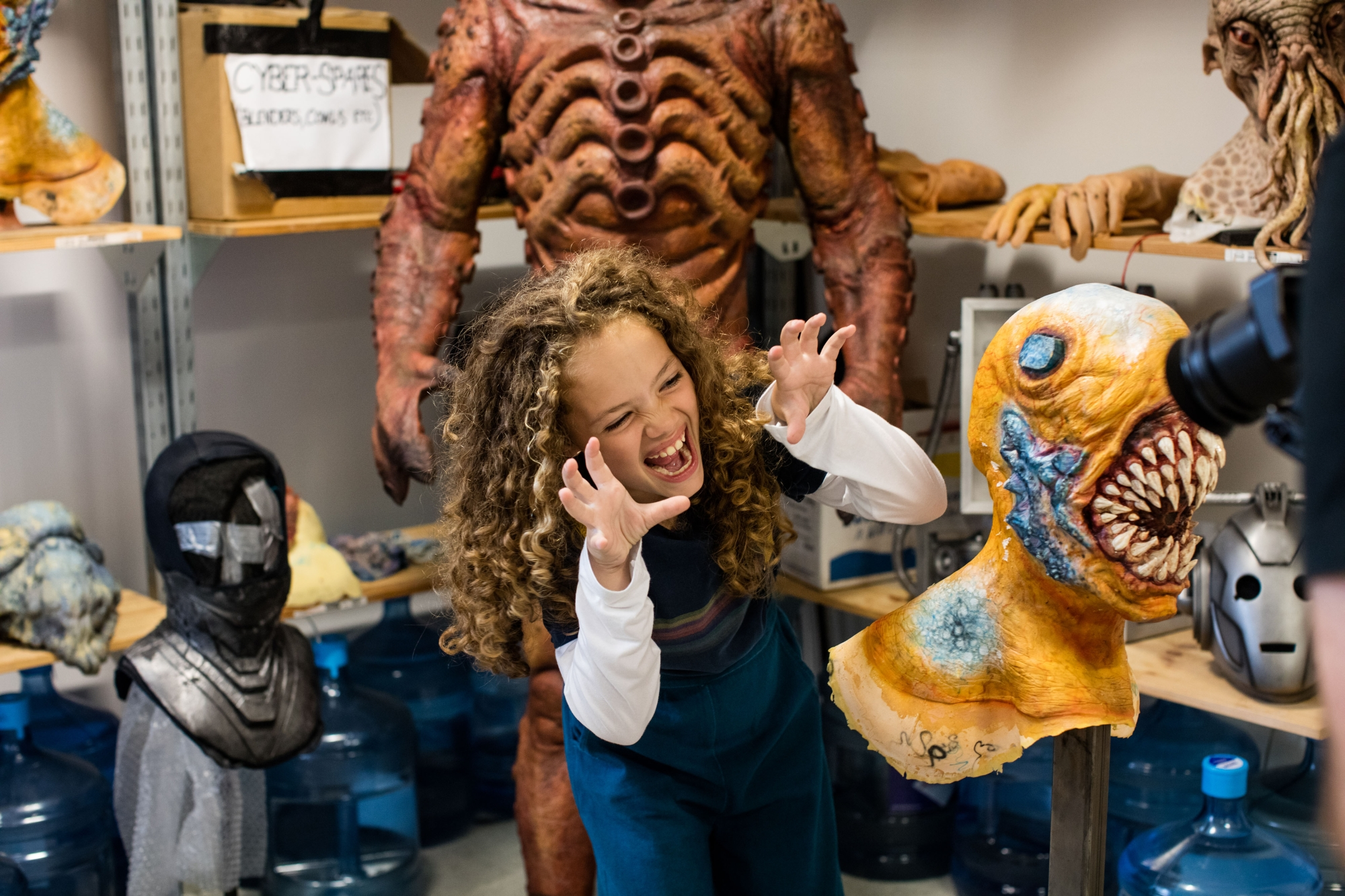 Children in Need 2018: Anna meets the monsters! (Credit: BBC/Sophie Mutevelian)