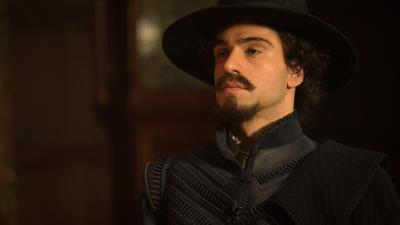 The Witchfinders: Alfonso (Stavros Demetraki) (Credit: BBC Studios (Adrian Rogers))