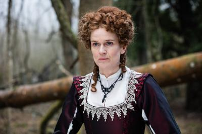 The Witchfinders: Becka (Siobhan Finneran) (Credit: BBC Studios (Sophie Mutevelian ))