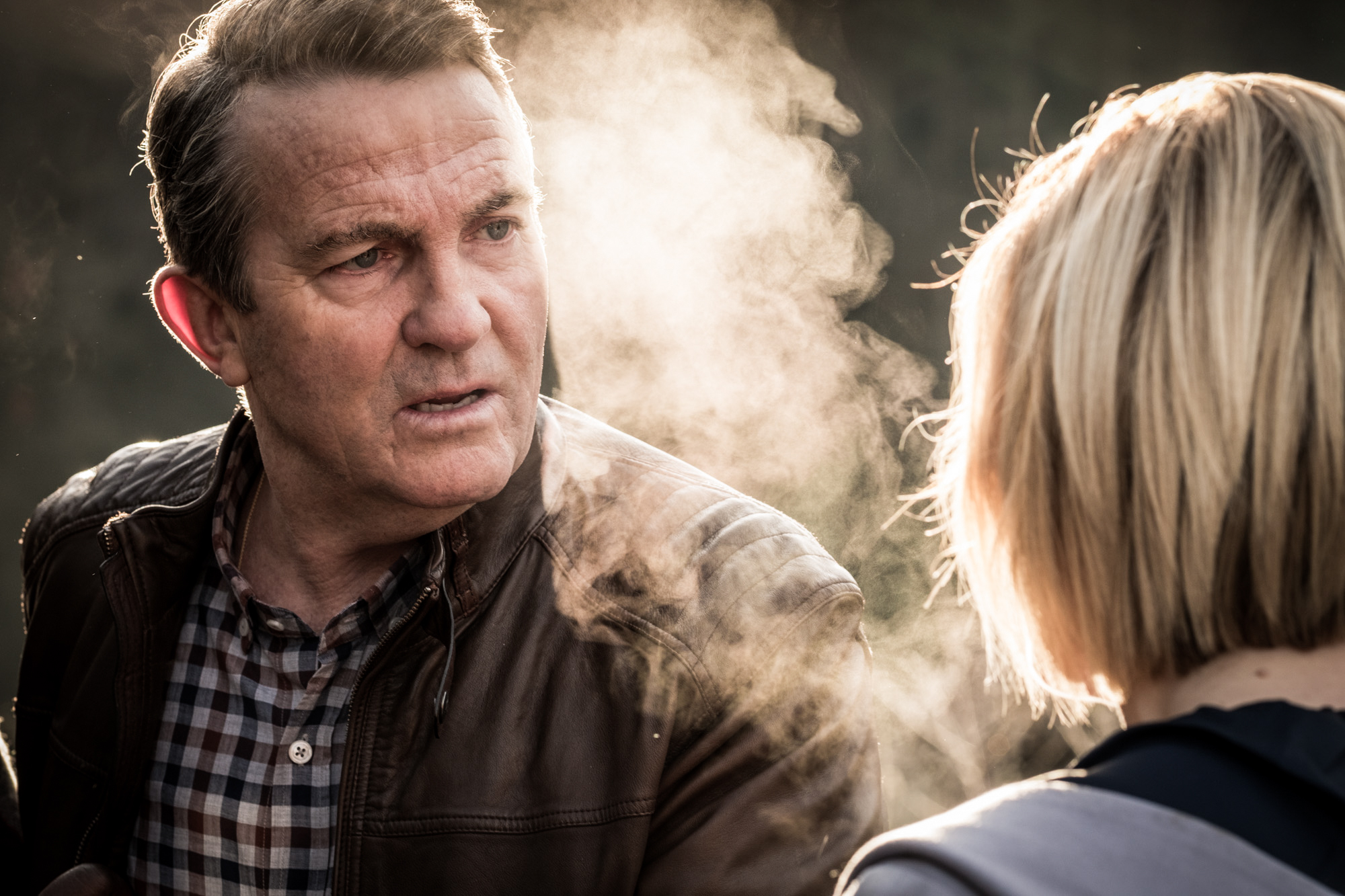 It Takes You Away: Graham (Bradley Walsh), The Doctor (Jodie Whittaker) (Credit: BBC Studios (Giles Kyte))