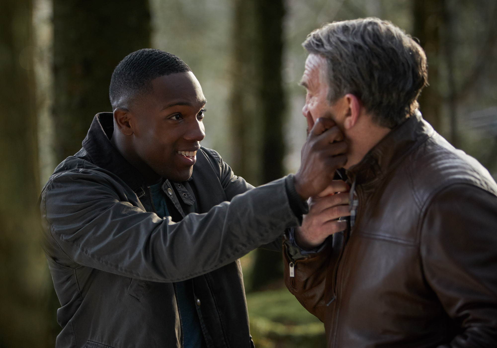 It Takes You Away: Ryan (Tosin Cole), Graham (Bradley Walsh) (Credit: BBC Studios (Simon Ridgway))